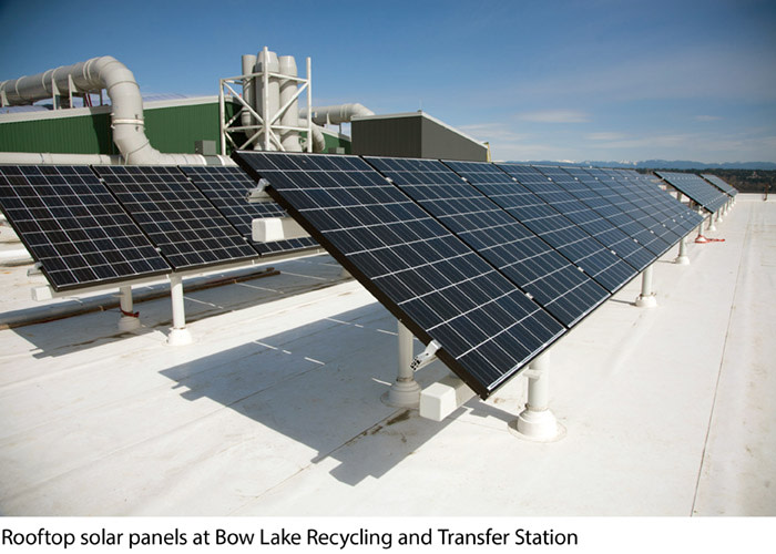 Solar panels installed at Bow Lake Station