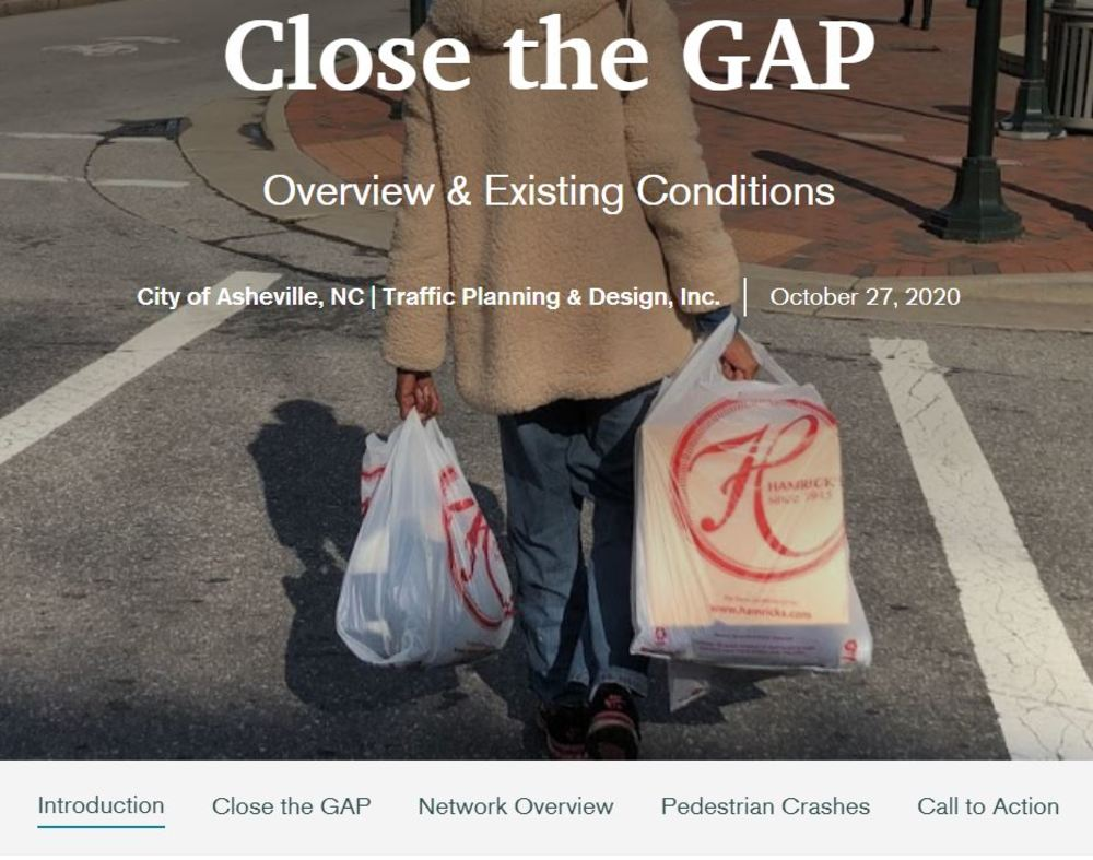 Screenshot of the Close the GAP StoryMap landing page