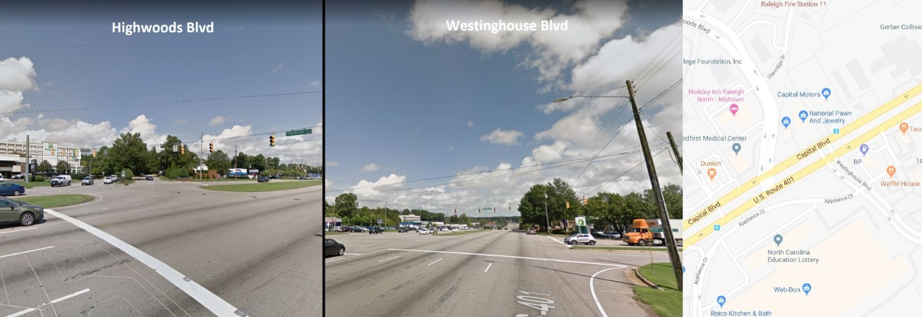 Highwoods Blvd/Westinghouse Blvd: Would you be willing to give up some ability to enter nearby parking lots and business entrances if it would allow you to drive through this area more easily?