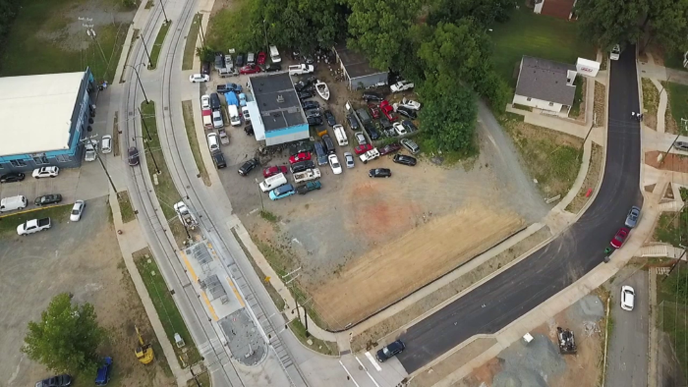Aerial view of Frazier Avenue Realignment Project. Photo: City of Charlotte