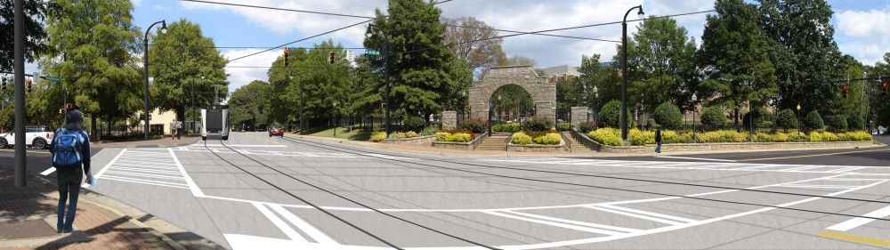 Rendering of Five Points intersection at Johnson C Smith University