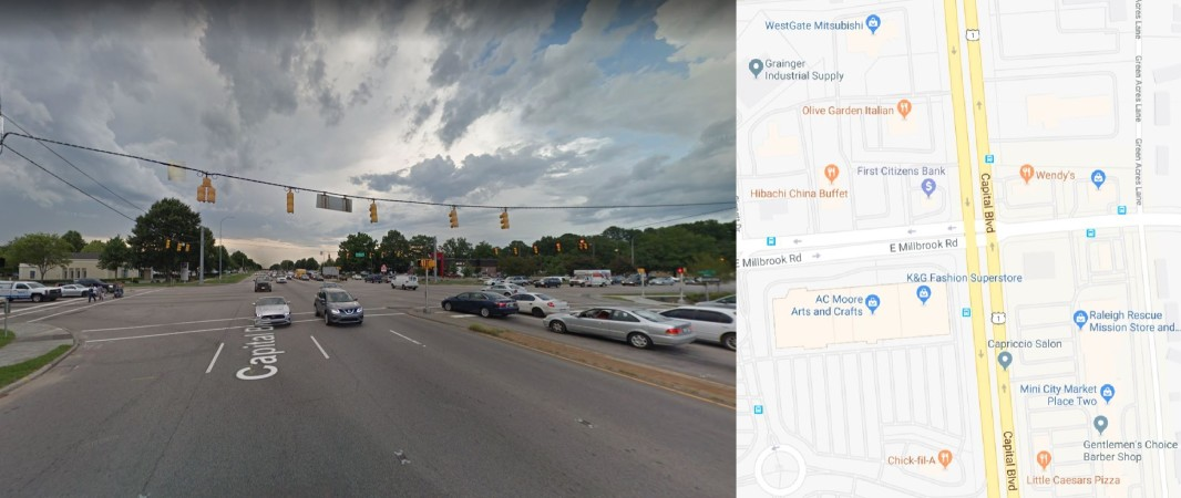 Millbrook Rd/N. New Hope Rd: Would you be willing to give up some ability to enter nearby parking lots and business entrances if it would allow you to drive through this intersection more easily?