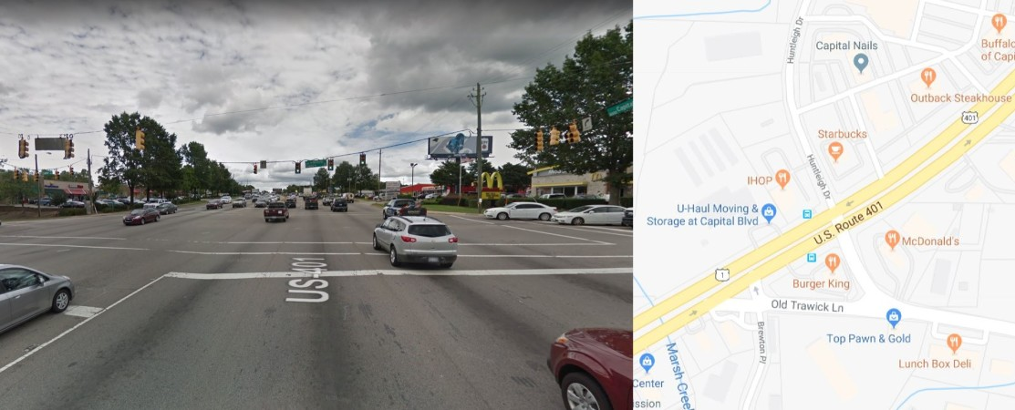 Trawick Rd/Huntleigh Dr: Would you be willing to give up some ability to enter nearby parking lots and business entrances if it would allow you to drive through this intersection more easily?